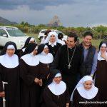 Bendición de la primera piedra del Convento de las Clarisas Capuchinas en Bernal