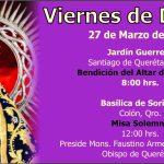 Viernes de Dolores: Fiesta Patronal Diocesana