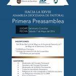 PRIMERA PRE-ASAMBLEA. Hacia la XXVIII Asamblea Diocesana de Pastoral.