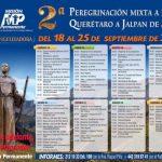 INVITACIÓN Y HORARIO : 2a Peregrinación a pie, Querétaro -Jalpan de Serra.