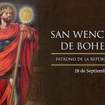 San Wenceslao de Bohemia, Mártir. 28 de Septiembre.