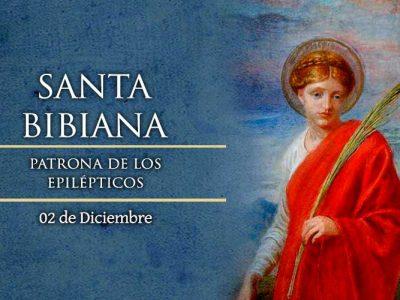 SANTA BIBIANA, 2 de Diciembre.