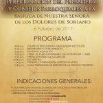 PEREGRINACIÓN DEL PRESBITERIO Y CONSEJOS PARROQUIALES A LA BASÍLICA DE NUESTRA SEÑORA DE LOS DOLORES DE SORIANO. 6 DE FEBRERO DE 2017