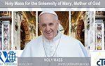S. S. FRANCISCO: Preside la Santa Misa en la Solemnidad de María Santa Madre de Dios y el 49º Día Mundial de la Paz.