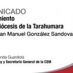 DESDE LA CEM: Comunicado: Nombramiento Obispo de la Tarahumara.
