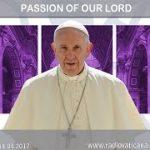 14.04.2017 Celebración de la Pasión del Señor, El Santo Padre preside la celebración de la Pasión del Señor, con la Liturgia de la Palabra, la Adoración de la Cruz y el rito de la Comunión.