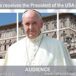 2017.05.24 El Papa Francisco recibe al Presidente de los Estados Unidos, en audiencia.
