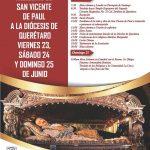 Programa de la visita de las Reliquias de San Vicente de Paúl a la Diócesis de Querétaro.