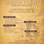 """INVITACIÓN: SOLEMNIDAD Y PROCESIÓN DEL """"CORPUS CHRISTI"""" 2017"""
