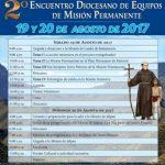 """""""2° ENCUENTRO DIOCESANO DE EQUIPOS DE MISIÓN PERMANENTE"""" 19 y 20 de Agosto de 2017."""