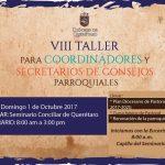 VIII TALLER PARA COORDINADORES Y SECRETARIOS DE CONSEJOS PARROQUIALES