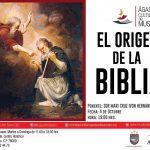 """ÁGAPES CULTURALES DEL MUSEO """"EL ORIGEN DE LA BIBLIA"""""""