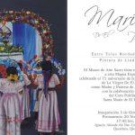 """MAGNA EXPOSICIÓN """"MARÍA DE EL PUEBLITO"""" Entre telas, bordados y retratos. Pinturas de Linda Sánchez."""
