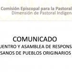 DESDE LA CEM: Comunicado de los Pueblos Originarios.
