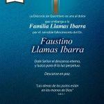 CONDOLENCIAS DE LA DIÓCESIS DE QUERÉTARO A LA FAMILIA LLAMAS.
