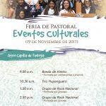 II Feria Diocesana de Pastoral. Les compartimos el programa de los Eventos Culturales.