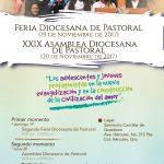 HORARIO II FERIA DIOCESANA DE PASTORAL Y LA XXIX ASAMBLEA DIOCESANA DE PASTORAL, 19 y 20 de Noviembre de 2017.