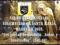VIDEO: SALMO RESPONSORIAL SOLEMNIDAD: SANTA MARÍA, MADRE DE DIOS.