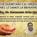 LA CIRM DE QUERÉTARO Y EL ORDEN DE LAS VÍRGENES, BIENVENIDA AL Pbro. Lic. Sacramento Arías Montoya.