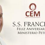 DESDE LA CEM: Felicitación a S.S. Papa Francisco por su quinto aniversario de pontificado.