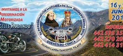 INVITACIÓN: III PEREGRINACIÓN MOTORIZADA SAN JUNIPERO SERRA 2018.