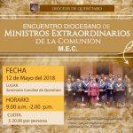 ENCUENTRO DIOCESANO DE MINISTROS EXTRAORDINARIOS DE LA COMUNIÓN (MEC)