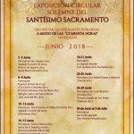 """EXPOSICIÓN CIRCULAR SOLEMNE DEL SANTÍSIMO SACRAMENTO (AD INSTAR QUADRAGINTA HORARUM) A MODO DE LAS """"CUARENTA HORAS"""" (40 HORAS) AÑO 2018."""
