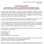 COMUNICADO DE LA CEM: Solidaridad con nuestros hermanos de Guatemala.