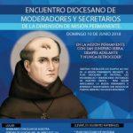 ENCUENTRO DIOCESANO DE MODERADORES Y SECRETARIOS DE LA DIMENSIÓN DE MISIÓN PERMANENTE.
