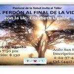 """Invitación al taller """"EL PERDÓN AL FINAL DE LA VIDA"""""""