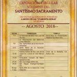 """EXPOSICIÓN SOLEMNE DEL SANTÍSIMO SACRAMENTO """"CUARENTA HORAS""""."""