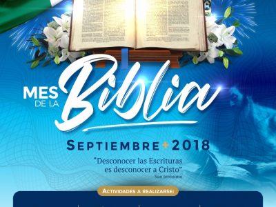 MES DE BIBLIA. SEPTIEMBRE 2018.