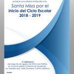 SANTA MISA POR EL INICIO DEL CICLO ESCOLAR 2018- 2019.