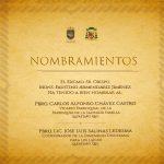 NUEVO NOMBRAMIENTO EN LA DIÓCESIS, Septiembre 2018.