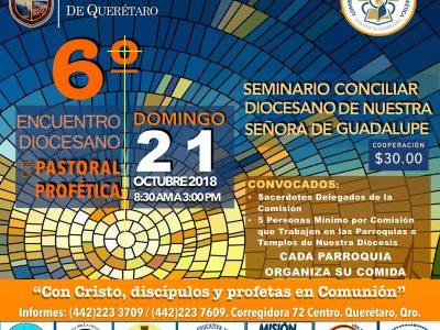 6TO. ENCUENTRO DIOCESANO DE LA PASTORAL PROFÉTICA.